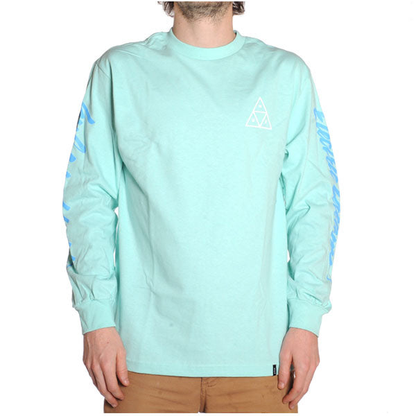 HUF - Night Call Triple Triangle L/S Shirt - Celadon