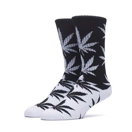 HUF - Color Block Plantlife Crew Socks - Black/Grey