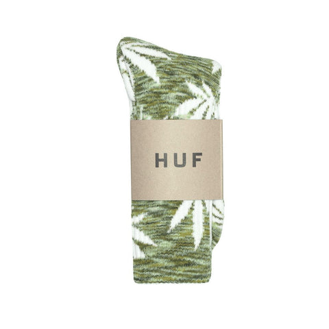 HUF - Streaky Plantlife Crew Socks - Green/Grey/White