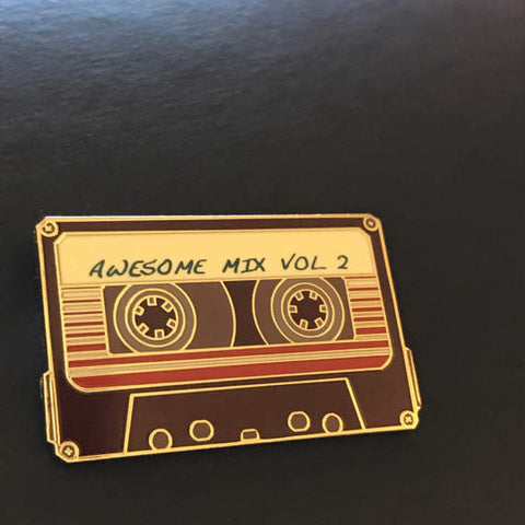 Mo.Pins - Awesome Mix Vol. 2 Pin - Brown