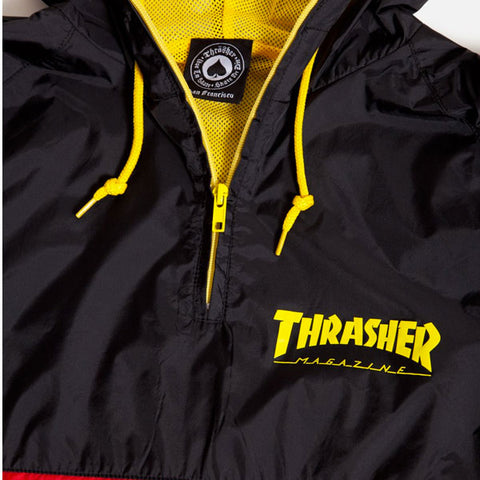 Thrasher - Skate Mag Anorak Jacket - Black/Red