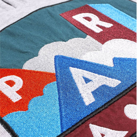 By Parra - Mountains Quarter Zip Pullover - Ash Grey