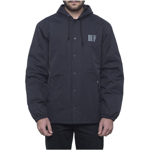 HUF - Serif Quilted Coaches Jacket - Black