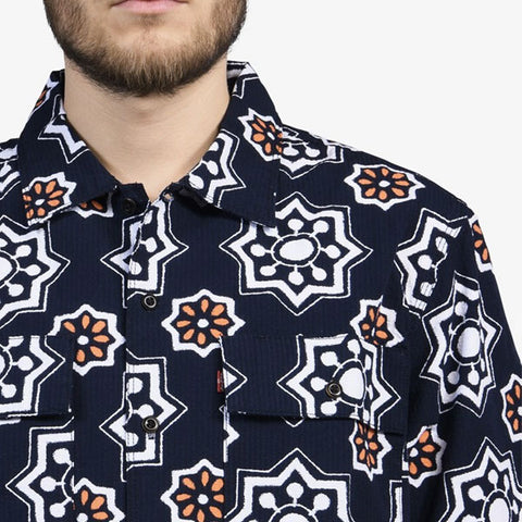 Levi's Skateboarding - Skate S/S Button Up Shirt - Waterthrush Navy