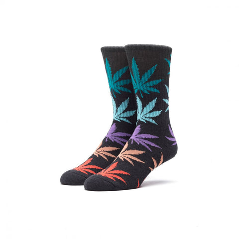 HUF - Melange Plantlife Crew Socks - Black Multi