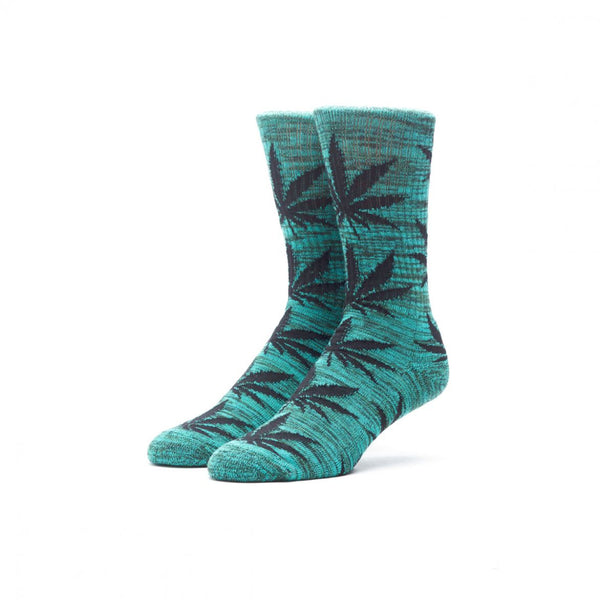 HUF - Melange Plantlife Crew Socks - Green/Black