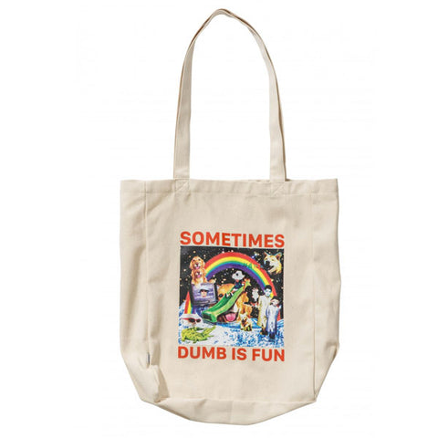 Misfit - Dumb is Fun Tote Bag - Unbleached White