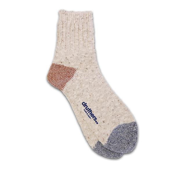 Druthers - Quarter Length Slub Sock - Oatmeal