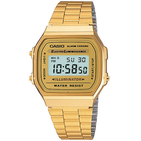 Casio - Classic A168WG-9VT - Gold Face/Gold Band