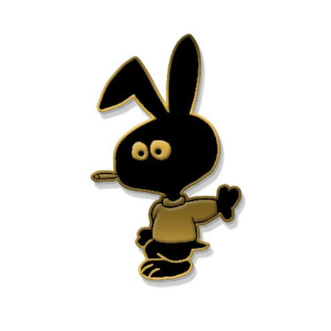 Cold World - Bunny Logo Pin - Black