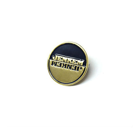 Jenkem - Circle Pin - Black/Gold