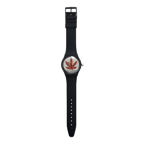 Skate Mental - Pizza Leaf Watch - Black