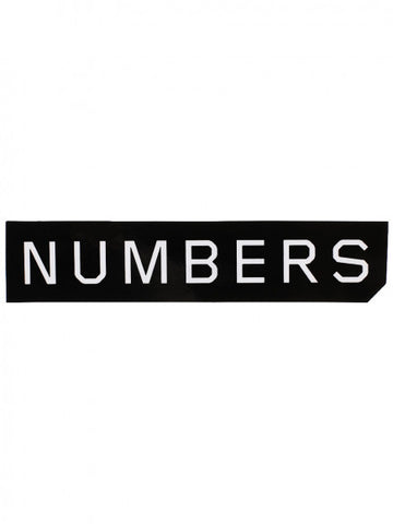 Numbers Edition - Mitered Logo Sticker - Black