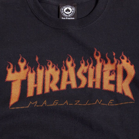 Thrasher - Flame Halftone Tee - Black