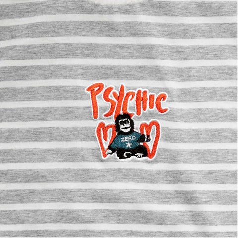 Psychic Hearts - Jelly Belly T-Shirt - Grey/Stripe