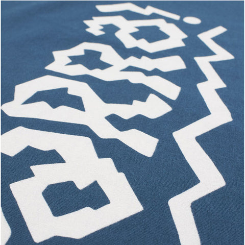 By Parra - Cut Out Logo Tee - Deep Water Blue