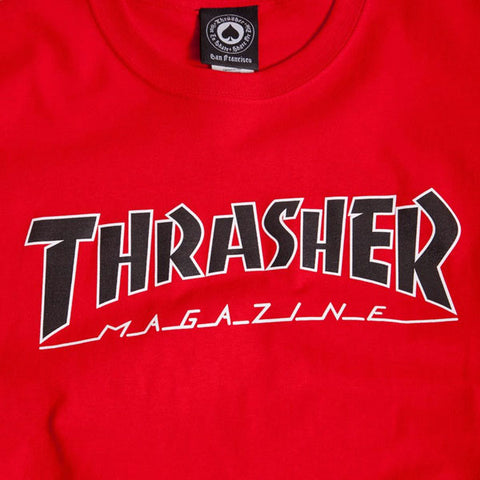 Thrasher - Outlined Tee - Red