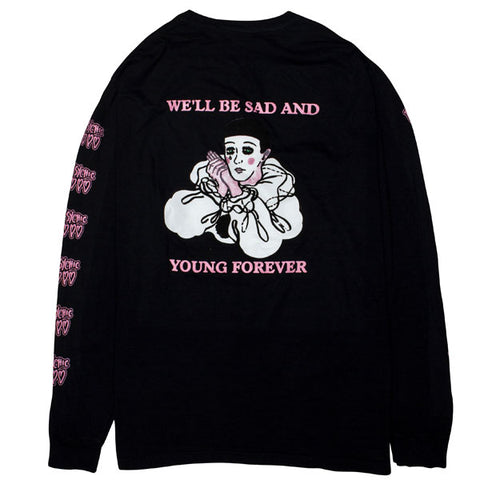 Psychic Hearts - Sad and Young Long Sleeve Shirt - Black