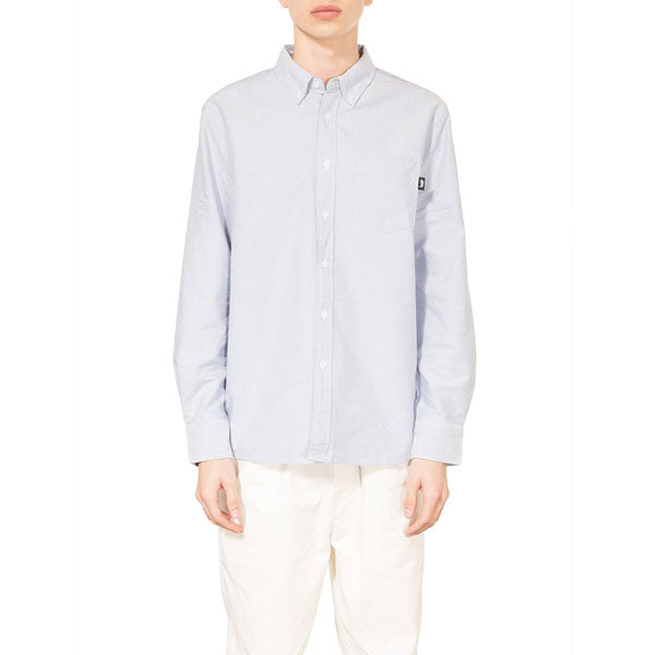 Stussy - Frank Oxford L/S Shirt - Blue