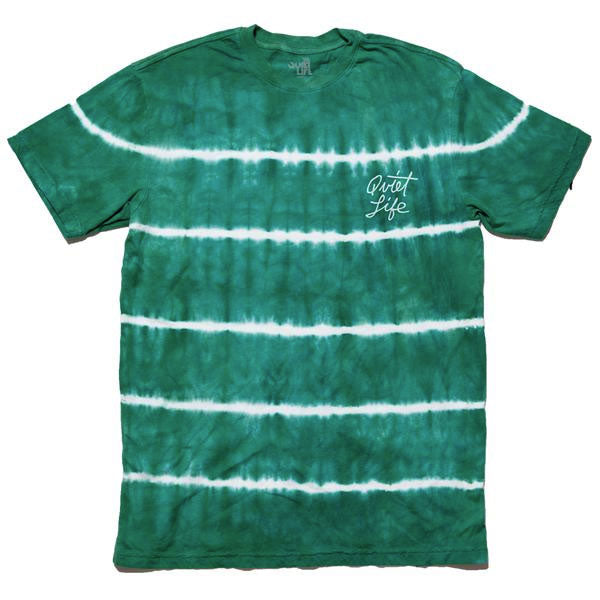 The Quiet Life - Cursive Logo Tee - Green Wash