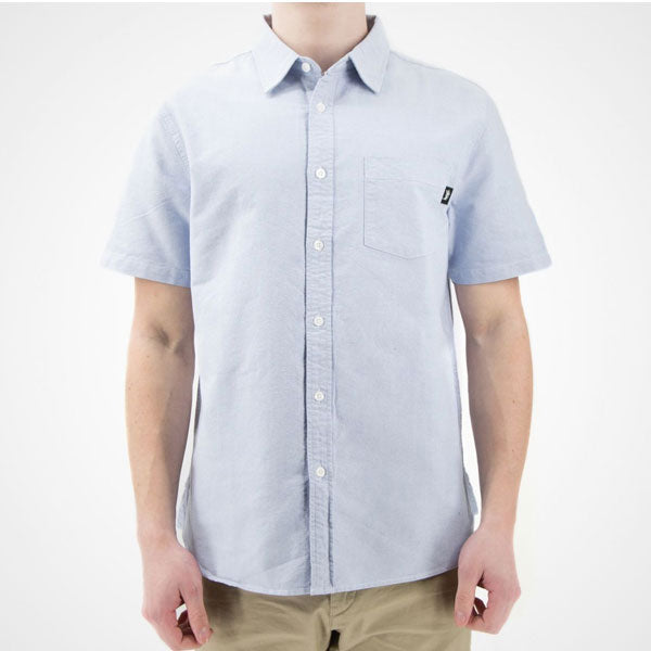 Stussy - Frank Oxford S/SL Shirt - Blue