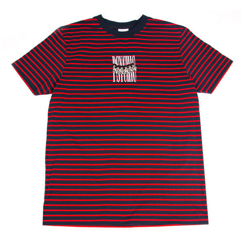 Psychic Hearts - A Dream of You Stripe Tee - Navy/Red
