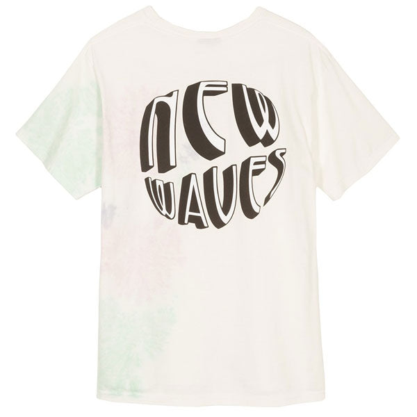 Stussy - New Waves Tie Dye T-Shirt - Natural