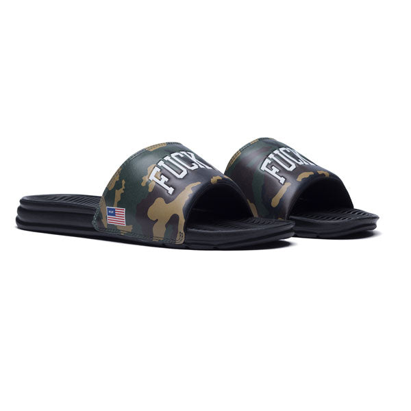 HUF - Fuck It Slide - Woodland Camo