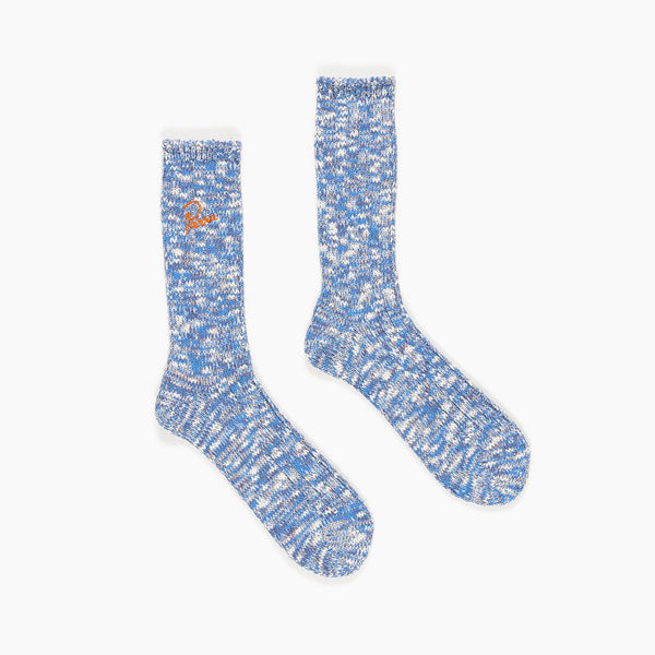 By Parra - Crew Slub Socks - Mix of Blue, Purple, and Off White