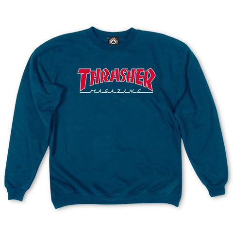 Thrasher - Outlined Skate Mag Crewneck - Navy