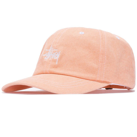 c30f03da3a015 Stussy - Washed Stock Low Pro Cap - Orange ...