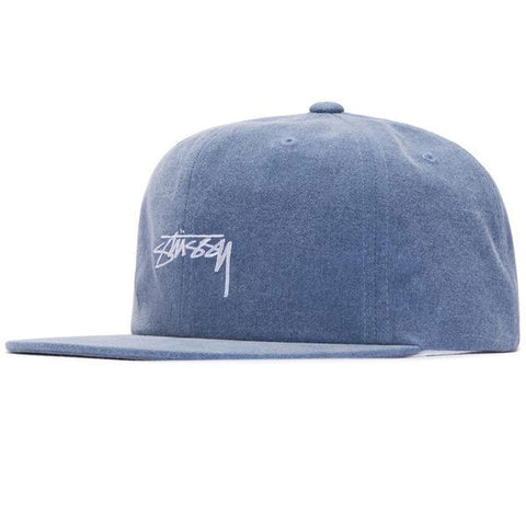 4cb73576071 Stussy - Washed Oxford Canvas Cap - Navy ...