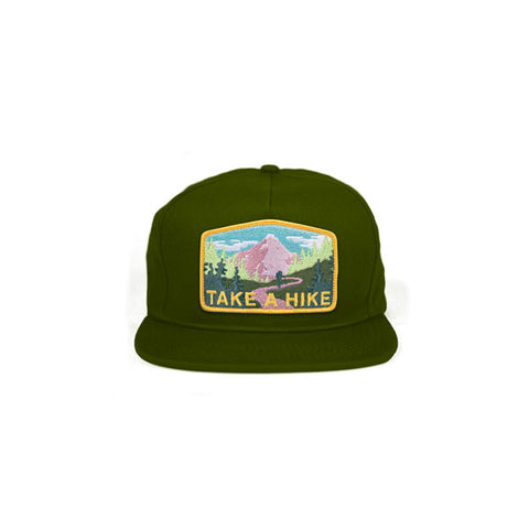 Skate Mental - Take a Hike Snapback Hat - Forest Green