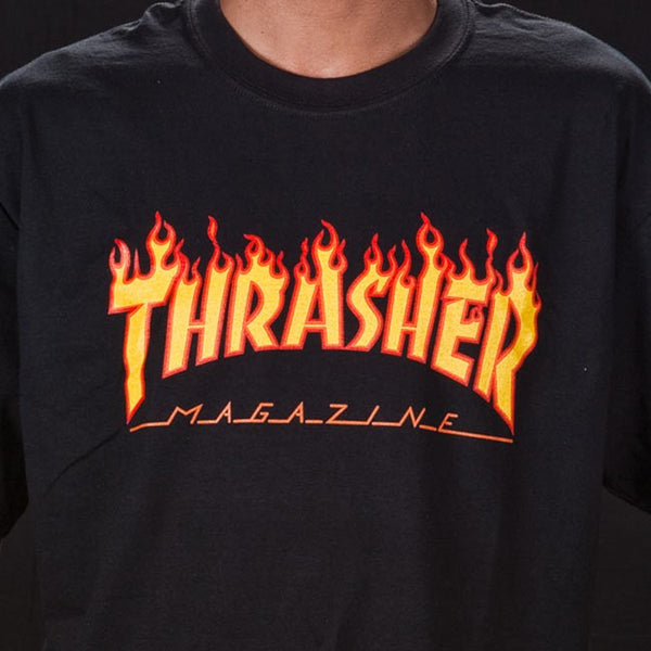 Thrasher - Flame Logo T-Shirt - Black
