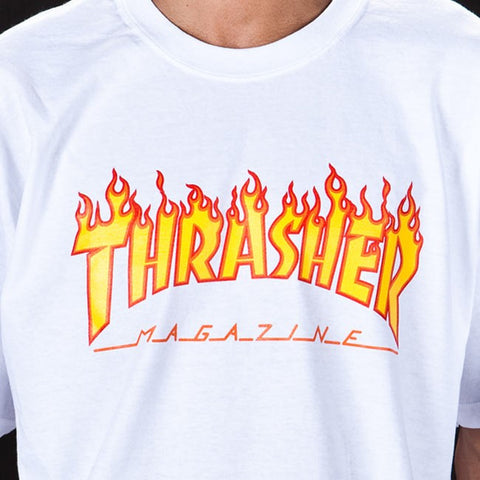Thrasher - Flame Logo T-Shirt - White