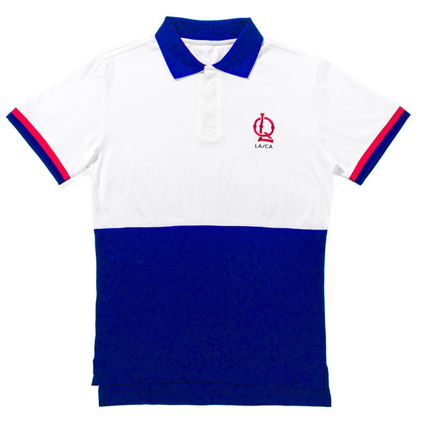 The Quiet Life - Wakefield Polo - White/Blue