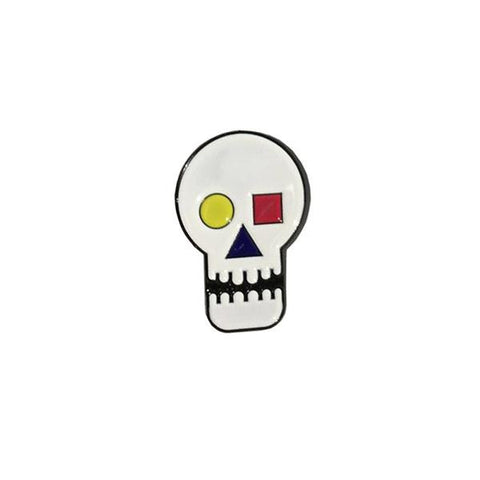 The Quiet Life - Bauhaus Skull Lapel Pin - Metal