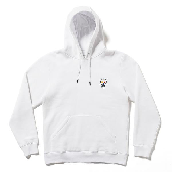 The Quiet Life - Bauhaus Skull Pullover Hoodie - White