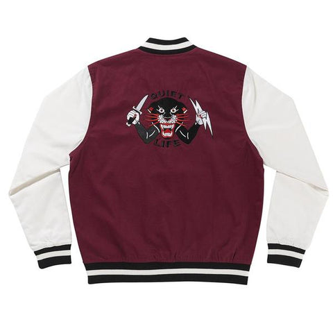 The Quiet Life - Ben Venom Coaches Jacket - Maroon