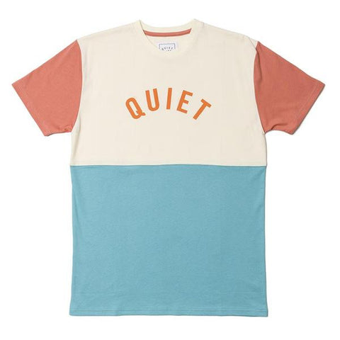 The Quiet Life - Block Tee - Cream/Turquoise/Coral