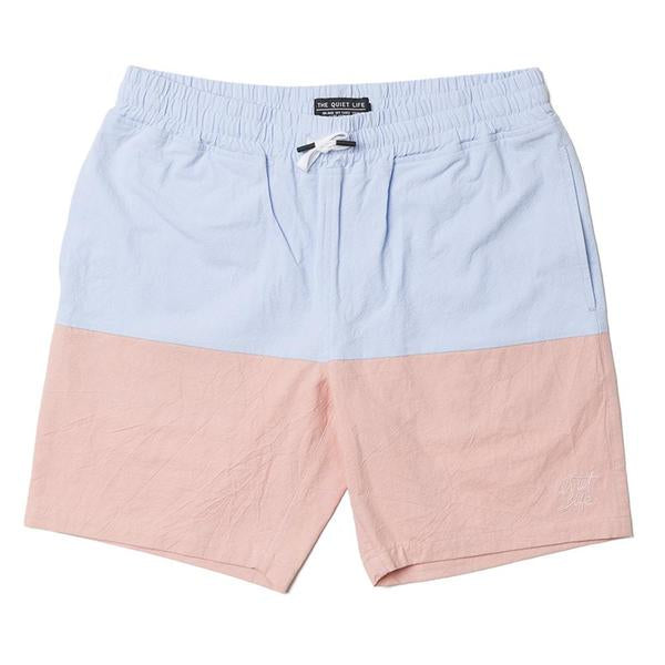 The Quiet Life - Boardwalk Beach Shorts - Periwinkle/Mint/Peach