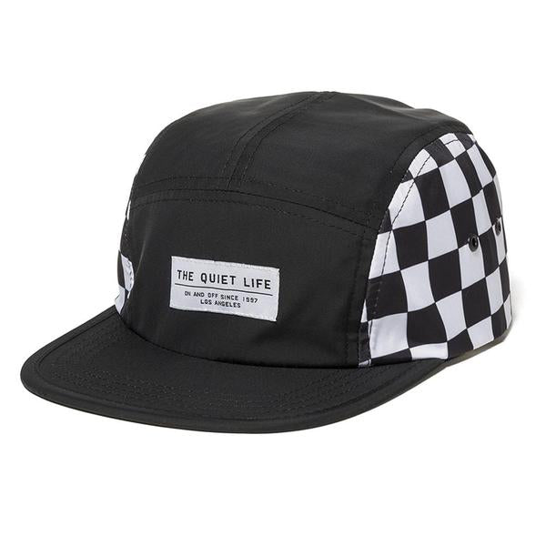 The Quiet Life - Checker 5 Panel Camper Hat - Black/Checker