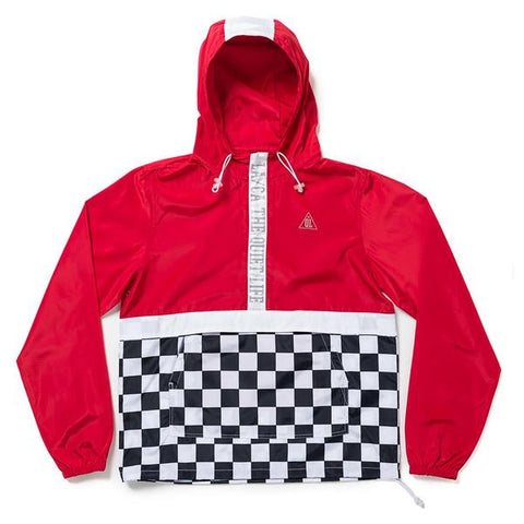 The Quiet Life - City Limits Checker Pullover - Red Checker