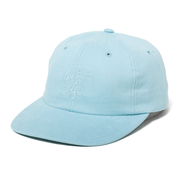 The Quiet Life - Cursive Polo Hat  - Ocean