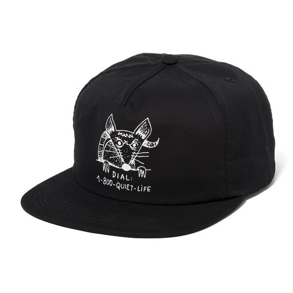 The Quiet Life - Dial A Rat Relaxed Fit Hat  - Black