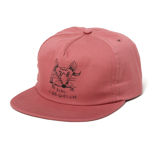 The Quiet Life - Dial A Rat Relaxed Fit Hat  - Nautical Red