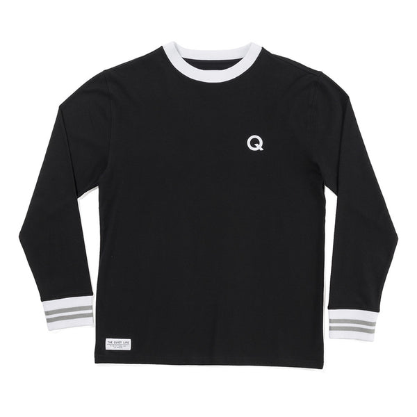 The Quiet Life - Q L/S Pique T-Shirt - Black