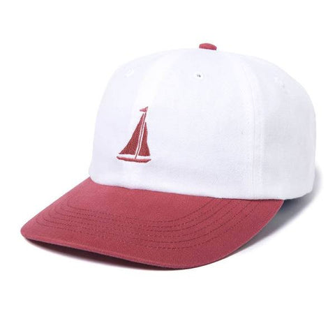 2d941877261 The Quiet Life - Sail Polo Hat - White Nautical Red ...