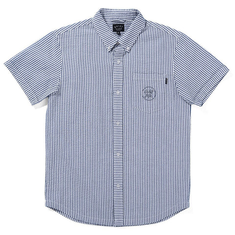 The Quiet Life - Seersucker S/S Button Down - Black