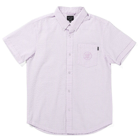 The Quiet Life - Seersucker S/S Button Down - Pink